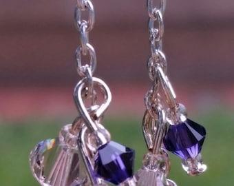 Swarovski cluster earrings