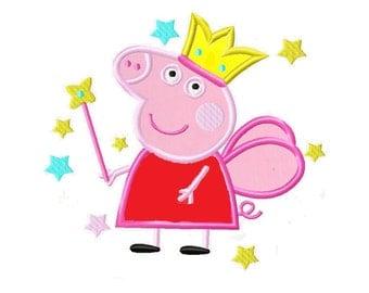 Peppa Pig applique embroidery design, Peppa Pig Machine Embroidery Design, Embroidery designs