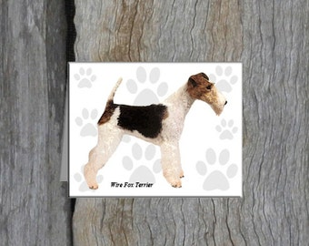 Wire Fox Terrier Note Cards