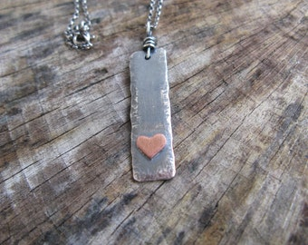 A Little Nugget of Love Sterling Silver Pendant