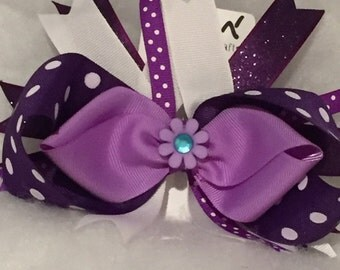 Purple Layered Bow