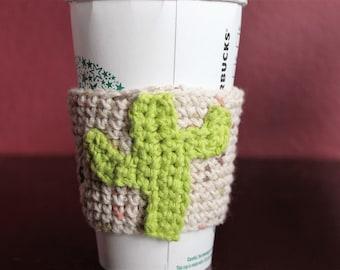 cactus coffee cozy, coffee cozy, cup cozy, cold drink cozy, hot drink cozy, cactus cup cozy, cactus crochet,  cactus coffee sleeve