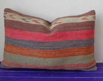 16x24 kilim pillow large lumbar pillow cover - 258b