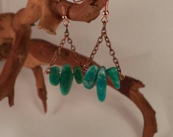 Russian Amazonite gemstone Earrings