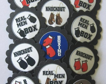 Boxing Cupcake Toppers/Party Picks Item #1429