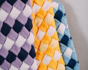Knit Entrelac Blanket