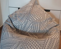 Beanbag chair cover, modern, grey white, dots, natural fabrics, cotton, with liner, kids, teens beanbag, pillow, pouf