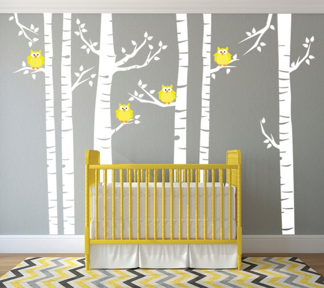 Birch Tree Forest Wall Mural Removable Vinyl Wall Decal Birch - Vinyl wall decals birch tree