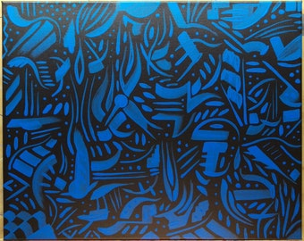 """original abstract painting, acrylic on canvas 16""""x20"""""""