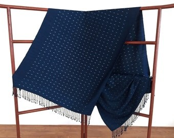 Medium Indigo Shawl - MSCB2
