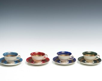 Alboth & Kaiser, ALKA Kunst Kronach, Teacups (Set of Four)