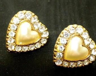 Glittering Heart Earrings