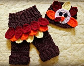 Crochet Turkey Baby Photo Prop, Baby Turkey Hat, Turkey Hat, Turkey Baby Outfit, Thanksgiving Baby Outfit, Thanksgiving Baby Hat, Photo Prop
