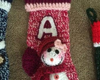 Snowgirl Christmas Stocking