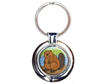 Beaver Keychain Key Ring