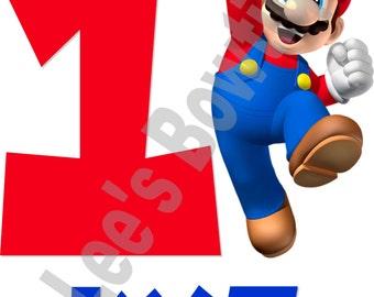 Mario Iron on Transfer Custom Made