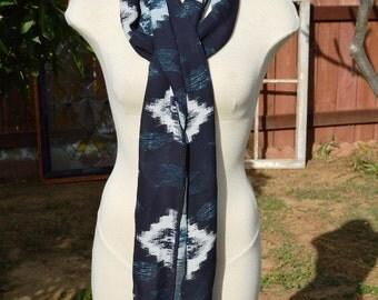 Blue, White,Gift Idea for her, women, scarves