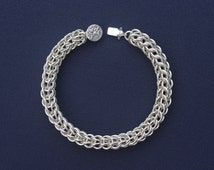 Sterling Silver Full Persian Weave Chainmaille Bracelet