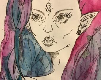 "Watercolor Art ""Elf"""