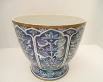 Vintage Blue & White Asian Bowl /Made In Thailand