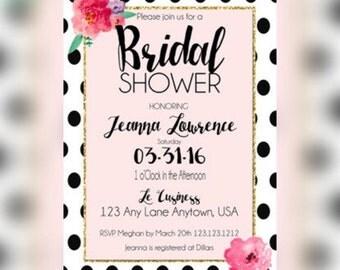 Bridal Shower Invitation, Bachelerette Luncheon Bridal Shower Invitations, Bachelorette Invitation, Bridal Shower Invitation
