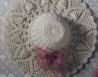 Crochet Pattern Sun hat pattern floppy hat summer crochet hat PDF Instant Download