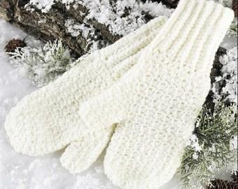 Crochet Pattern mittens womens warm mitts Beginner Digital Download