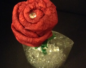 Valentines Day Button Rose