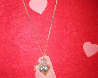 Silver Heart Beach Glass Necklace!