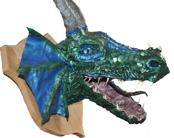 Green Dragon Head Trophy