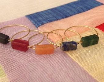 Rings - delicate, different and contemporary. Handmade. PIVOINE (P0133)