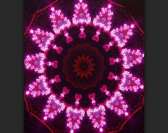 Pink Kaleidoscope Phone Case