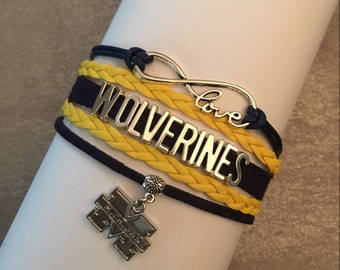 Michigan Wolverines - Infinity Love Bracelet
