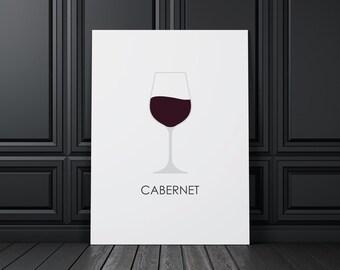Wine Cabernet, digital print, wine art, wine print, wine wall art, wine prints, wine poster,  wine decor, wine design, compassionprints