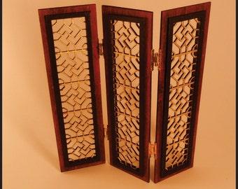 Miniature Ornate Folding Screen 2 - KIT