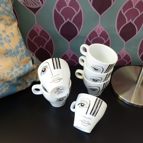 Hand painted porcelain Espresso cups  - Avrisage