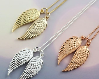 Angel Wing Necklace | Rose Gold | Silver | Gold | Gifts for her | Personalised Jewellery | Statement necklace | Gift Card Jewellery | Love