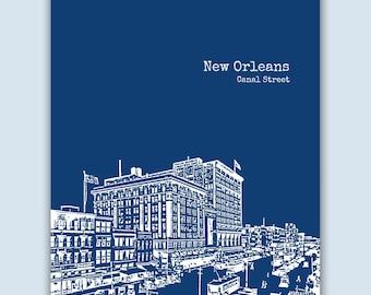 New Orleans Print, New Orleans Art, Wedding Gift, New Orleans Poster, New Orleans Decor, Engagement Gift, New Orleans Skyline