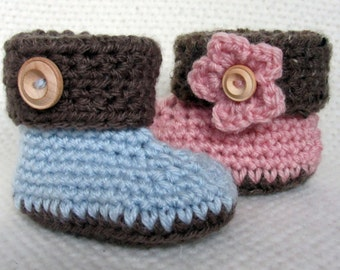 Crochet Cuffed Baby Booties, baby booties, baby shoes, baby gift, crochet baby booties, baby shoes girl, baby shoes boy, baby shower gift