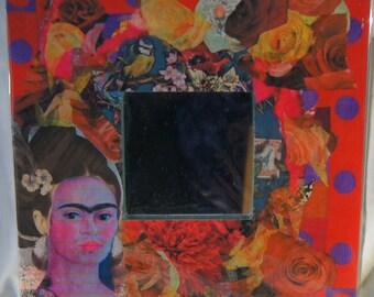 Collage Mirror With Frida Kahlo/Bird