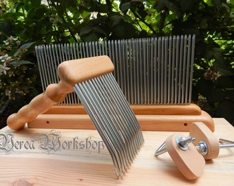 Hackle and Carding Comb/wool comb and blending hackle set #1