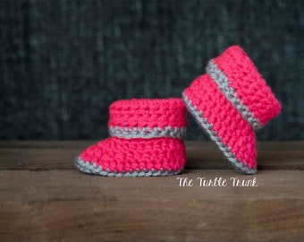Pink Baby Shoes, Baby Booties, Newborn Shoes, Crohet Baby Booties, Corchet Baby Shoes, Baby Girl, Baby Boy