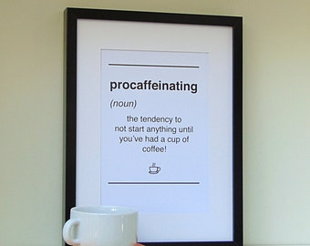 Dictionary Style Coffee Print