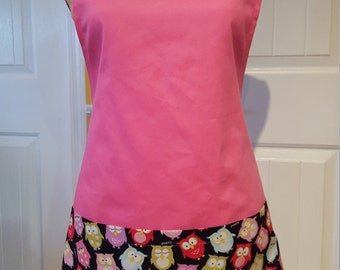 Short apron with full pockets