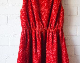 Orange-Red Velvet dress size 8