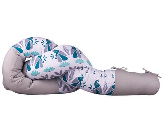 Peacoboo Baby extra long roll pillow /head bumper