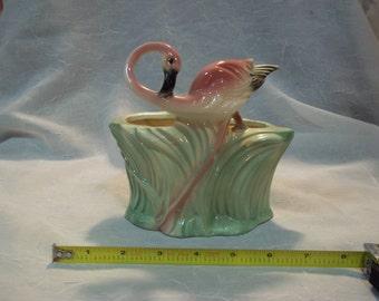Vintage Maddux Pottery Flamingo Planter