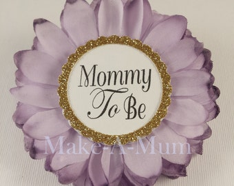 Baby Shower Corsage, baby shower favors,Mommy To be Pin ,Capias,Grandma To Be,Hand-dyed,mommy to be corsage, baby shower pin,daddy to be pin