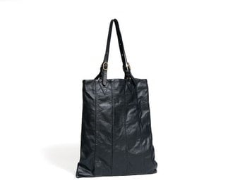 Black leather Tote bag : ACT 243