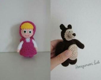 Masha&Orso crochet amigurumi